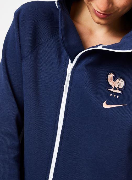 Tøj Nike Veste Cape FFF zippée Femme Blå se forfra