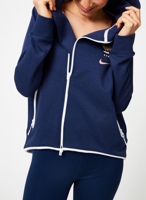 Tøj Nike Veste Cape FFF zippée Femme Blå detaljeret billede af skoene