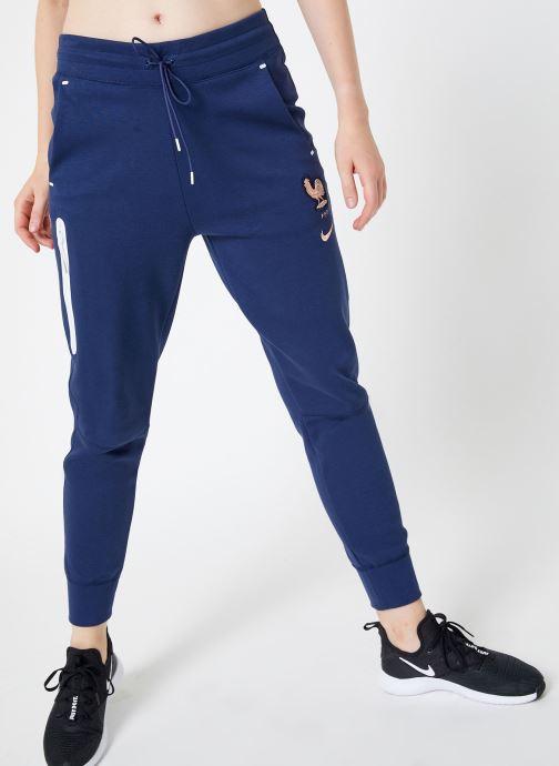 Tøj Nike Pantalon FFF Femme Blå detaljeret billede af skoene