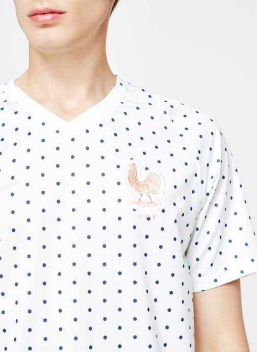 Kleding Nike Maillot Nike FFF Homme extérieur Wit voorkant