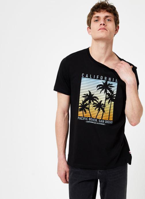 Tøj Compagnie de Californie Monterey T-Shirt Sort Se fra højre