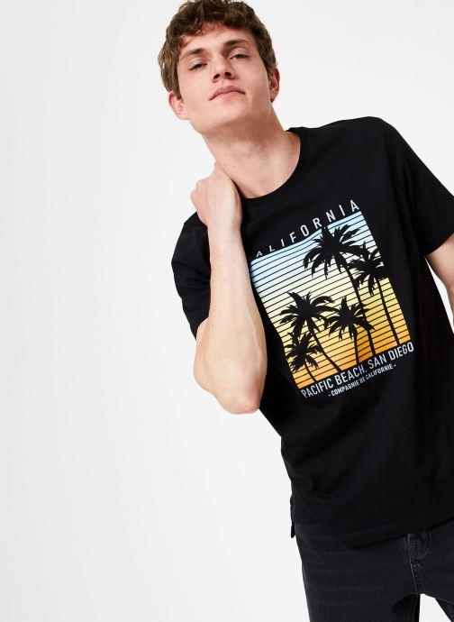 Tøj Compagnie de Californie Monterey T-Shirt Sort detaljeret billede af skoene
