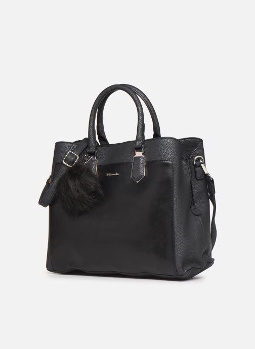 Handtaschen Tamaris Elsa Business Bag schwarz schuhe getragen