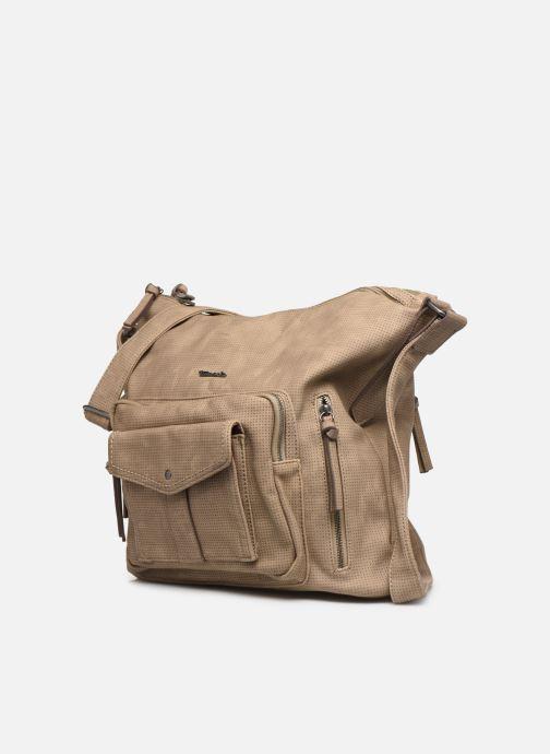 Handtaschen Tamaris Adriana Hobo Bag L beige schuhe getragen