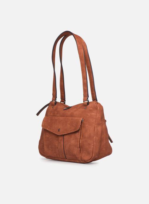 Handbags Tamaris Adriana Shoulder Bag Brown model view