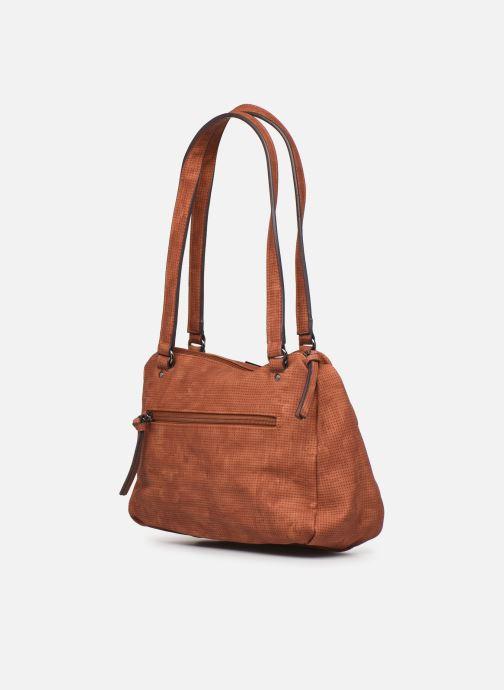 Handbags Tamaris Adriana Shoulder Bag Brown view from the right