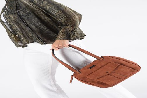 Handbags Tamaris Adriana Shoulder Bag Brown view from underneath / model view