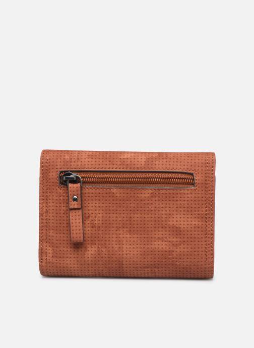 Kleine lederwaren Tamaris Adriana Small Wallet With Flap Bruin voorkant