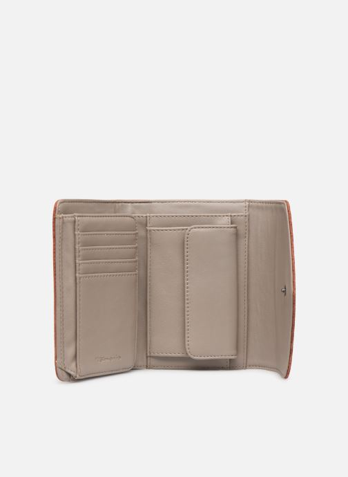 Kleine lederwaren Tamaris Adriana Small Wallet With Flap Bruin achterkant