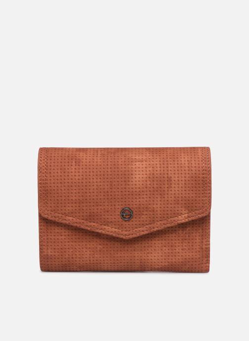 Kleine lederwaren Tamaris Adriana Small Wallet With Flap Bruin detail