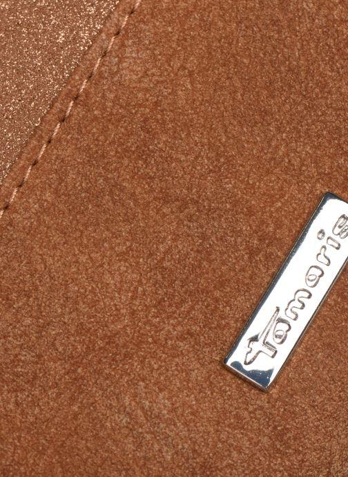 Kleine lederwaren Tamaris Khema Big Zip Around Wallet Bruin links
