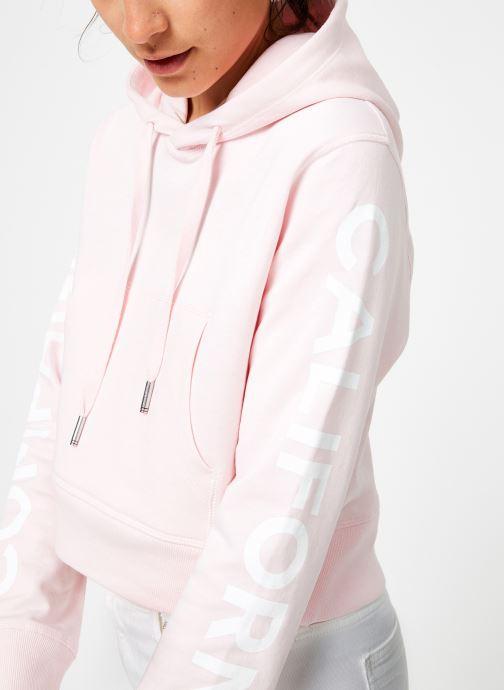 Tøj Compagnie de Californie Arcadia Crooped Hoody Compagnie de Californie Pink se forfra