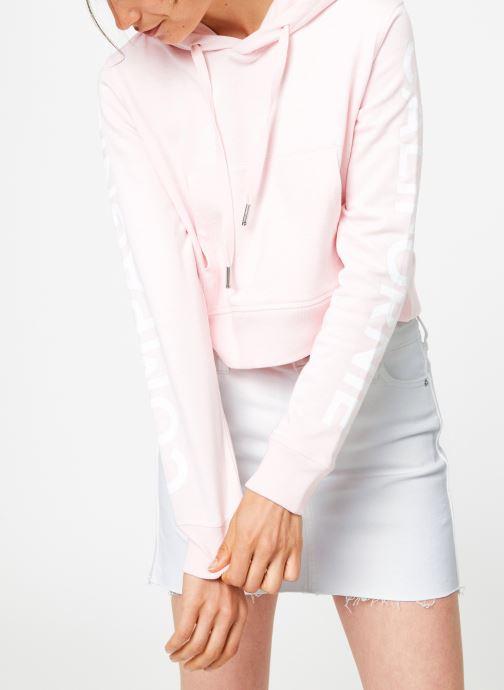 Tøj Compagnie de Californie Arcadia Crooped Hoody Compagnie de Californie Pink Se fra højre