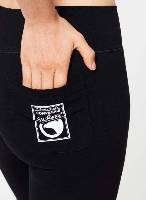 Tøj Compagnie de Californie IRVINE LEGGING PRINT WHITE Sort se forfra