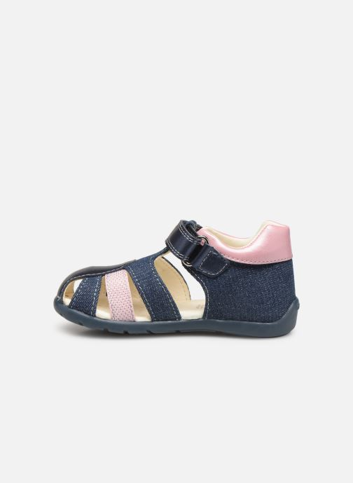 Sandales et nu-pieds Geox B Kaytan Bleu vue face