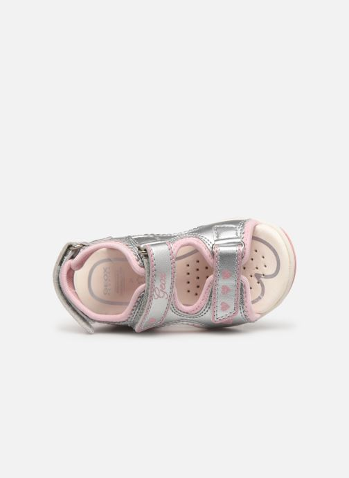 Sandals Geox B S.AGASIM G. B B720ZB Silver view from the left