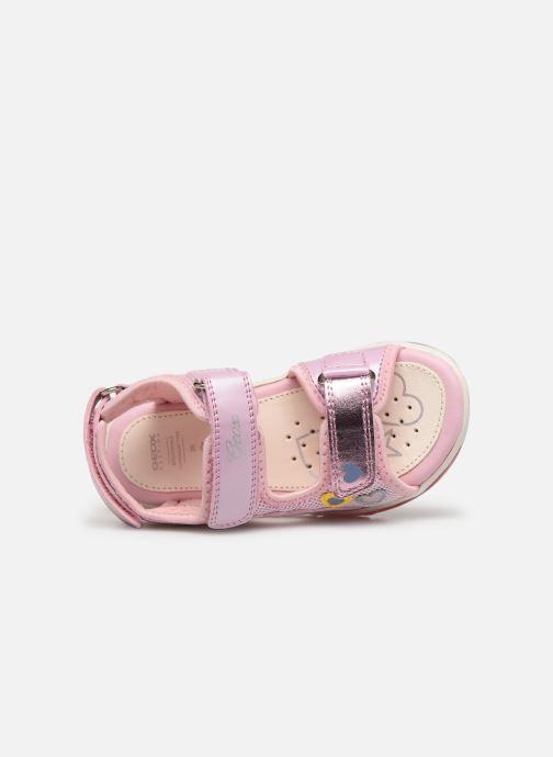 Sandales et nu-pieds Geox B Sandale Todo G. B820EA Rose vue gauche
