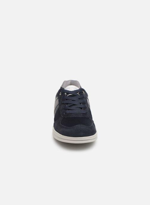 Baskets Geox J Anthor B. J823H Bleu vue portées chaussures