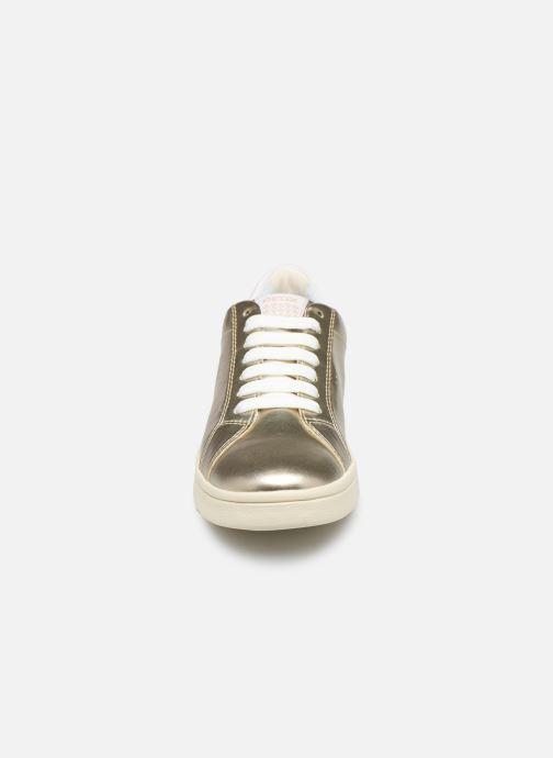 Baskets Geox J Djrock G. J824MA Or et bronze vue portées chaussures