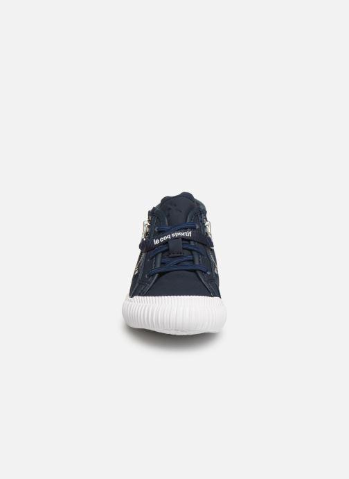 Baskets Le Coq Sportif Nationale Mid Inf Fur Bleu vue portées chaussures