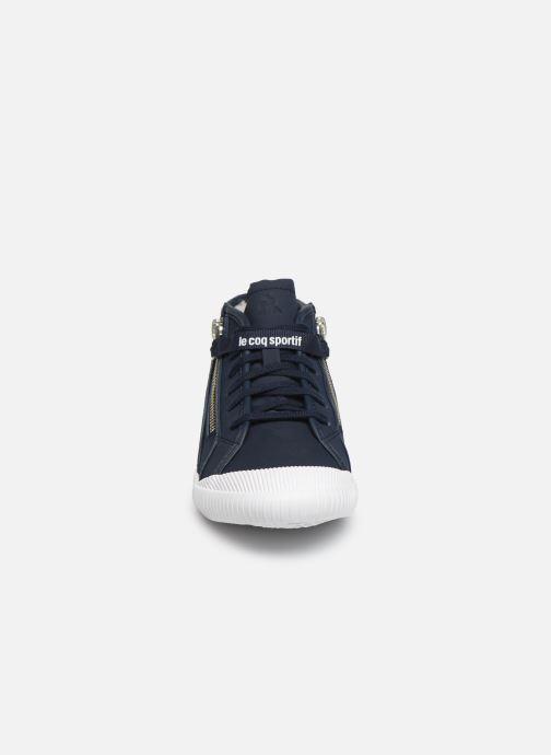 Baskets Le Coq Sportif Nationale Mid GS Fur Bleu vue portées chaussures