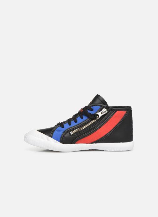 Sneaker Le Coq Sportif Nationale Mid GS schwarz ansicht von vorne