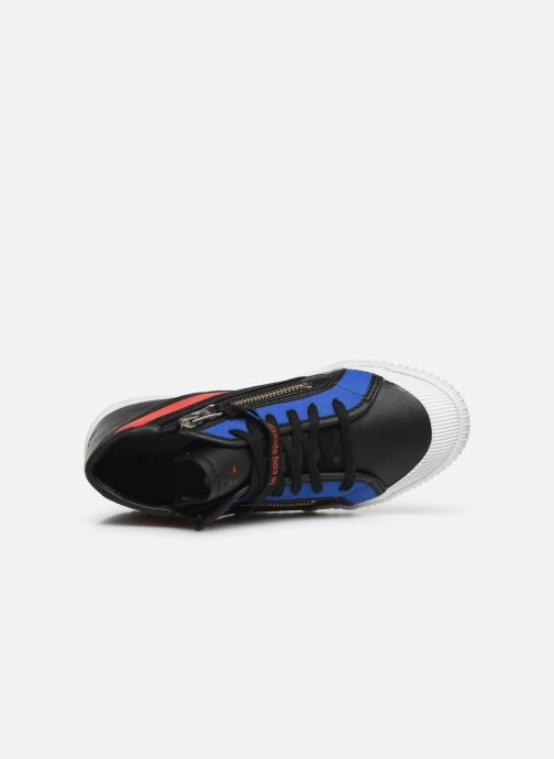 Sneaker Le Coq Sportif Nationale Mid GS schwarz ansicht von links