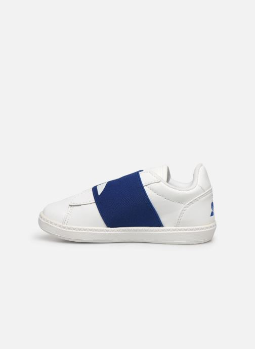 Sneakers Le Coq Sportif Courtstar Inf Strap Bianco immagine frontale
