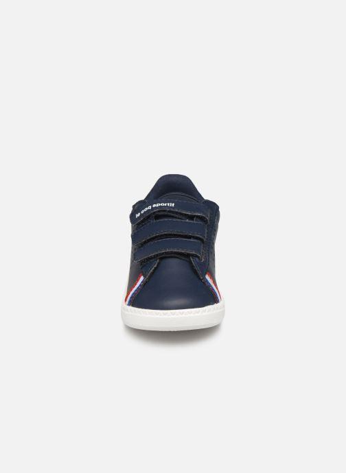 Baskets Le Coq Sportif Courtstar Inf Sport BBR Bleu vue portées chaussures