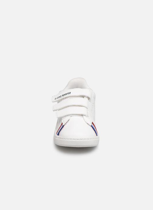 Baskets Le Coq Sportif Courtstar Inf Sport BBR Blanc vue portées chaussures