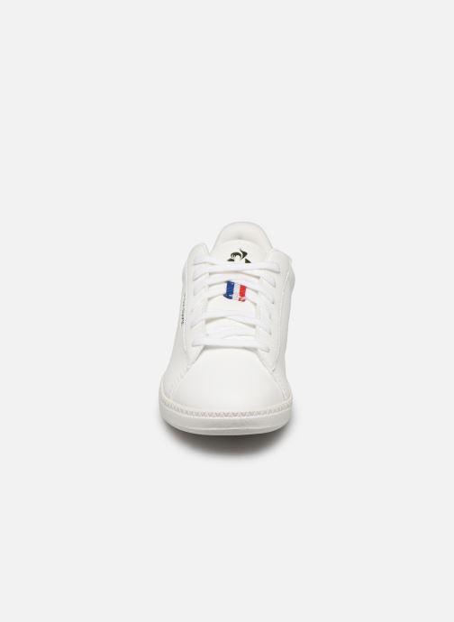 Baskets Le Coq Sportif Courtstar GS Camo Blanc vue portées chaussures
