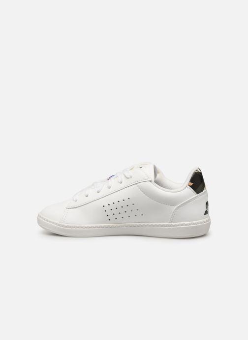 Sneakers Le Coq Sportif Courtstar GS Camo Wit voorkant