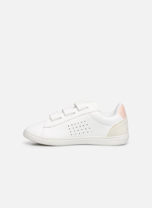 Baskets Le Coq Sportif Courtstar PS Shiny Blanc vue face