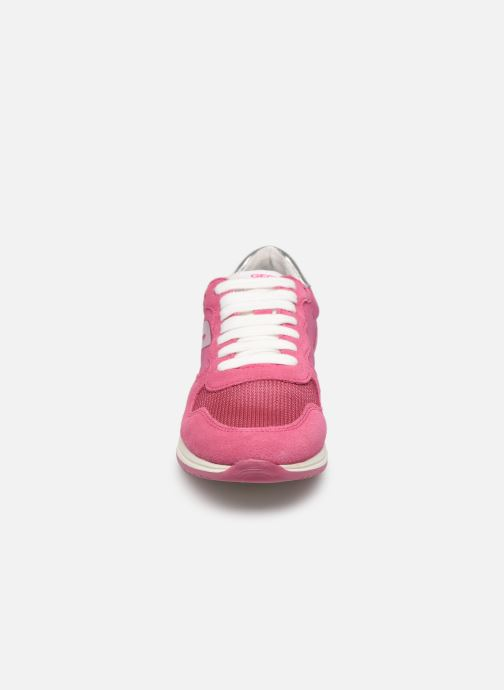 Baskets Geox J Jensea G. J826FE Rose vue portées chaussures