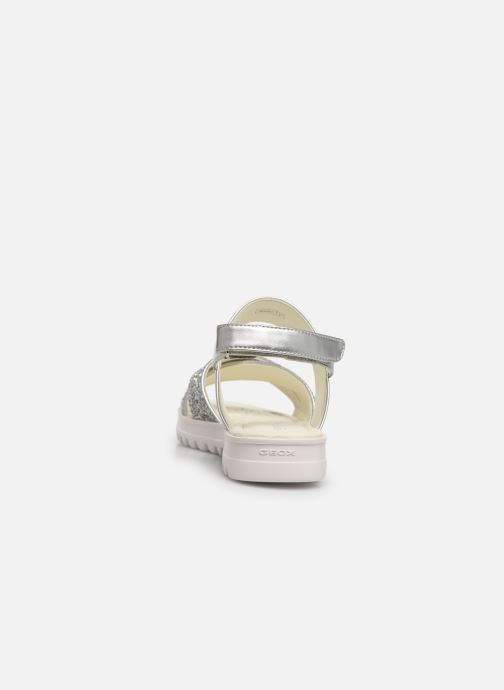 Sandals Geox J Sandale Coralie G. J826EC Silver view from the right