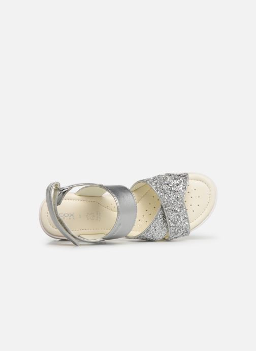 Sandals Geox J Sandale Coralie G. J826EC Silver view from the left