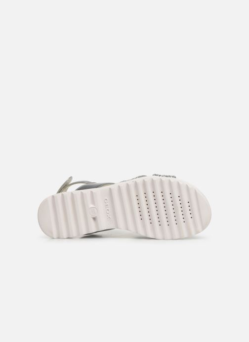Sandals Geox J Sandale Coralie G. J826EC Silver view from above