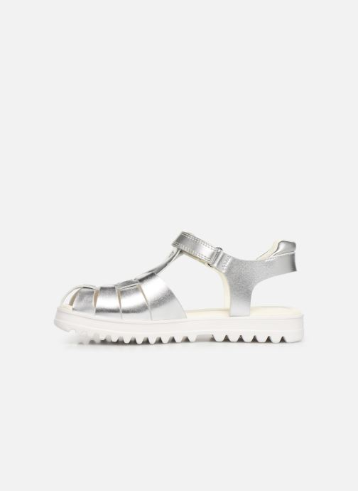 Sandals Geox J Sandale Coralie G. J826ED Silver front view