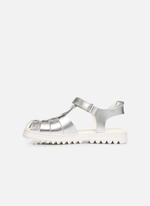 Sandali e scarpe aperte Geox J Sandale Coralie G. J826ED Argento immagine frontale