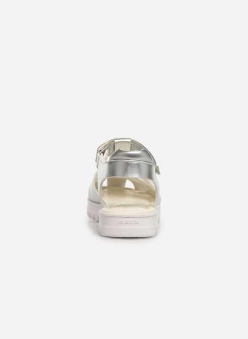 Sandals Geox J Sandale Coralie G. J826ED Silver view from the right