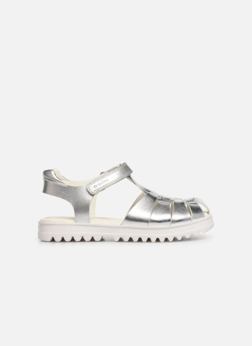 Sandals Geox J Sandale Coralie G. J826ED Silver back view