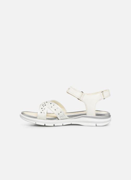 Sandales et nu-pieds Geox J Sandale Sukie G. J720VC Blanc vue face