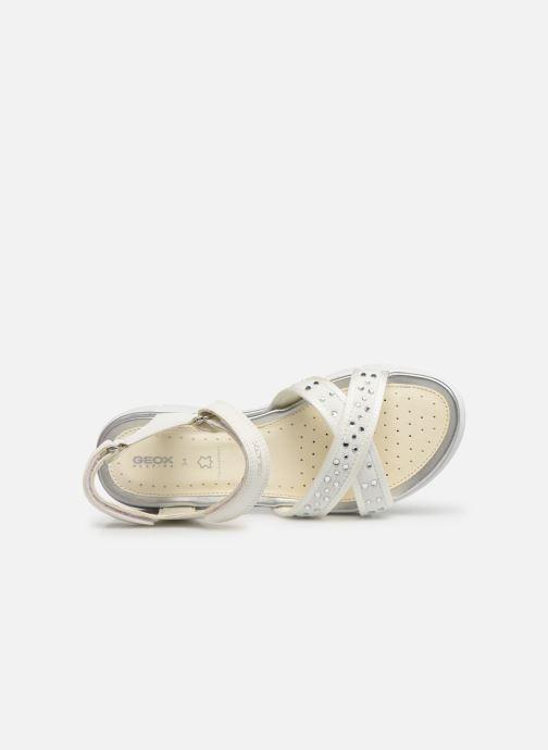 Sandales et nu-pieds Geox J Sandale Sukie G. J720VC Blanc vue gauche