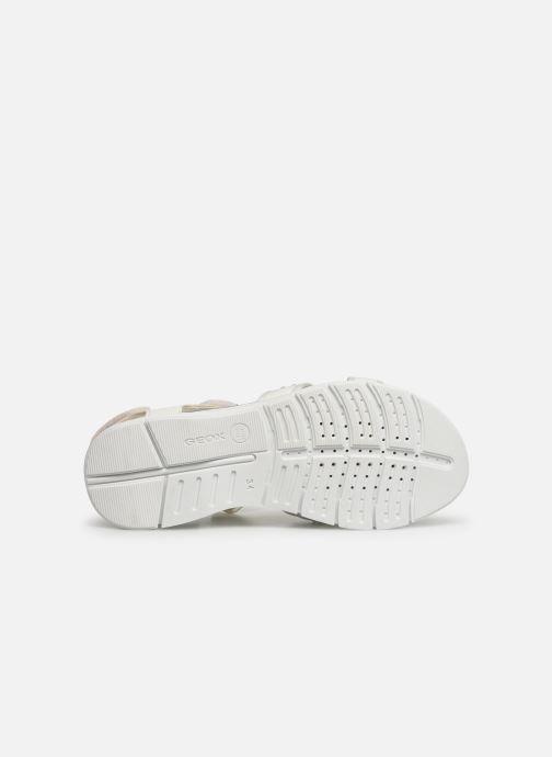 Sandales et nu-pieds Geox J Sandale Sukie G. J720VC Blanc vue haut