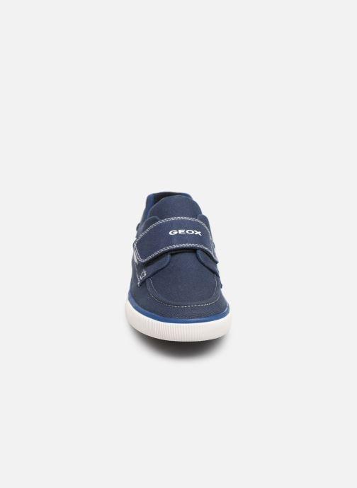 Chaussures à scratch Geox Jr Kilwi B. J82A7C Bleu vue portées chaussures