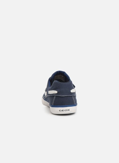 Chaussures à scratch Geox Jr Kilwi B. J82A7C Bleu vue droite