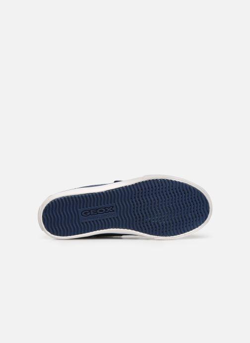 Chaussures à scratch Geox Jr Kilwi B. J82A7C Bleu vue haut