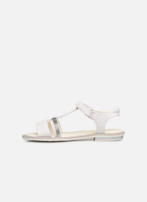 Sandales et nu-pieds Geox Jr Sandale Giglio J82E2B Blanc vue face