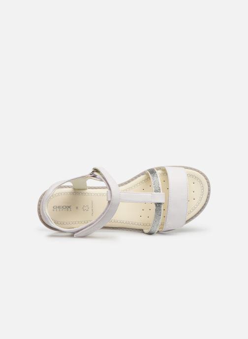 Sandales et nu-pieds Geox Jr Sandale Giglio J82E2B Blanc vue gauche