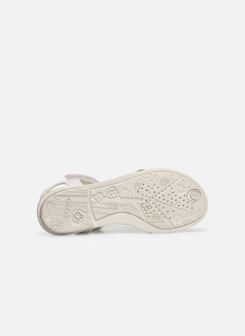 Sandales et nu-pieds Geox Jr Sandale Giglio J82E2B Blanc vue haut
